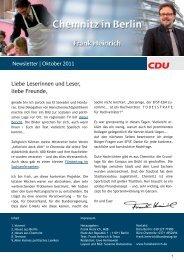 Newsletter | Oktober 2011 Liebe Leserinnen und ... - Frank Heinrich