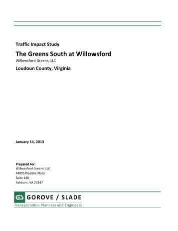 Traffic Impact Study – The Greens South at ... - Loudoun County
