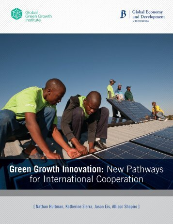 Green Growth Innovation - Brookings Institution