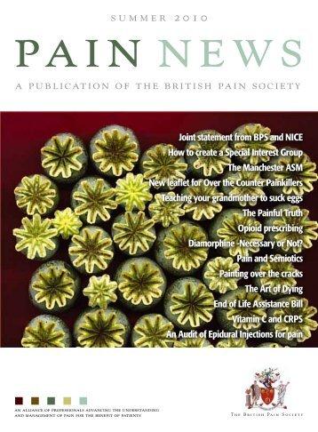 Summer 2010 - The British Pain Society