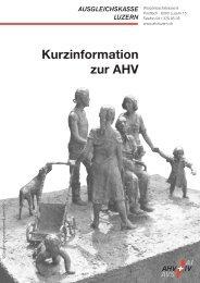 Kurzinformation zur AHV - Ausgleichskasse Luzern