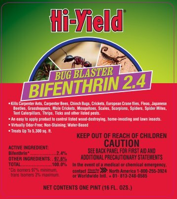 Label 32295 Bug Blaster 2.4 Bifenthrin Approve 3-7-13 - Fertilome
