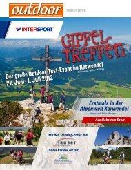 Der große Outdoor-test-event im Karwendel 27. Juni–1. Juli 2012