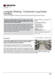 Longspan Shelving - Constructor Storage
