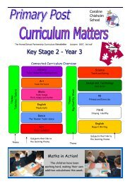 Primary Post Curriculum Newsletter Year 3 Autumn 1 2007