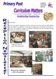 Primary Post Curriculum Matters Reception Autumn 1 2007