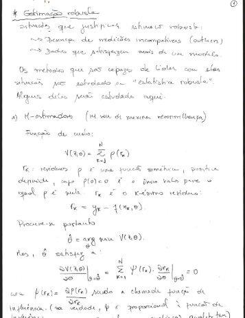 Estimação robusta (m-estimadores, LMS, LMedS e RANSAC) - LARA
