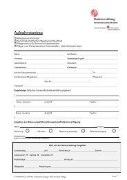 Aufnahmeantrag - Henriettenstiftung Altenhilfe