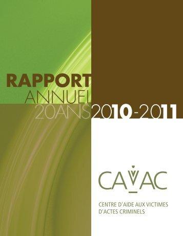 Rapport annuel 2010/2011 - Centres d'aide aux victimes d'actes ...