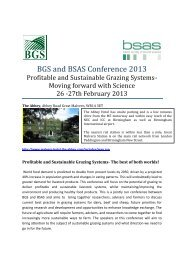 BGS and BSAS Conference 2013 - British Grassland Society