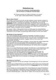 Globalisierung - LSH Marquartstein
