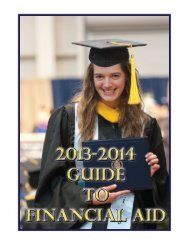 Guide to Financial Aid - University of Pittsburgh Bradford