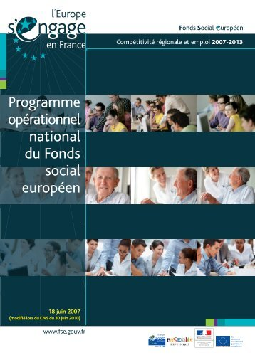 Programme opérationnel national - Fonds Social Européen en France