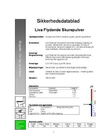 Liva Flydende Skurepulver – datablad… - Respekt Danmark