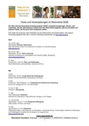 Feste Weinviertel 2008_April-Dez