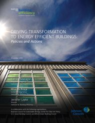 driving transformation to energy efficient buildings - GLOBE Alliance