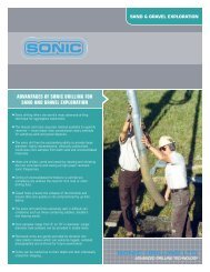 Sand and Gravel Exploration - Sonic Drilling Ltd.