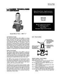 (R629) Sealed Motor Valve - Hansen Technologies