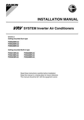daikin multi split installation manual