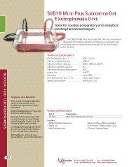 SUB10 Mini-Plus Submarine Gel Electrophoresis Unit