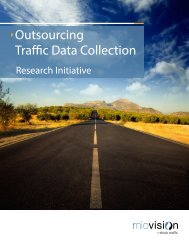 Outsourcing Traffic Data Collection - Miovision Technologies