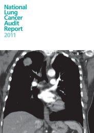 Lung Cancer 2010 National Audit Report (pub 2011, pdf) - HQIP