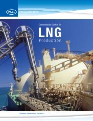 Contamination Control for LNG Production - Pall Corporation