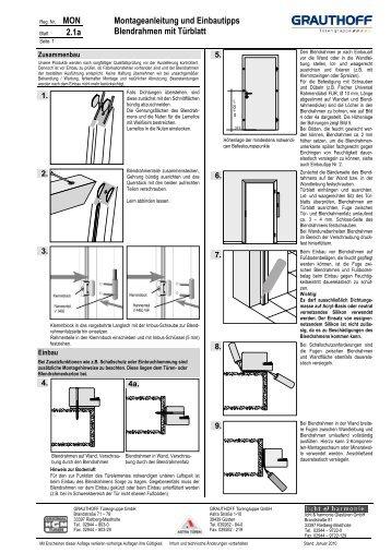 Türblattmaße din  11.1a Montageanleitung Stahlzarge mit Türblatt zum ... - Grauthoff