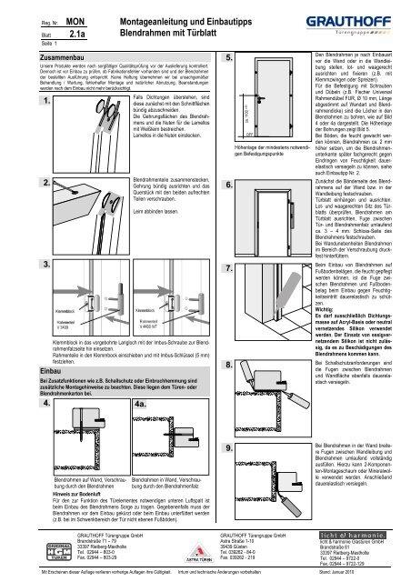 2-1-Einbauanleitung-Blendrahmen-mit-Tuerblatt-und ... - Grauthoff