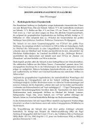 HOCHWASSERMANAGEMENT IN SALZBURG Hans Wiesenegger ...