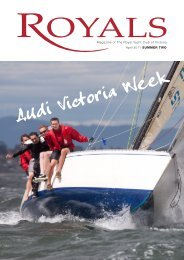 April 2011 SUMMER TWO Magazine of The Royal Yacht Club of ...