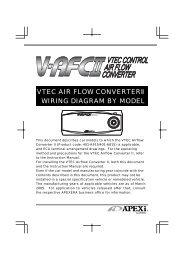 vtec air flow converterⅱ wiring diagram by model - apexi usa