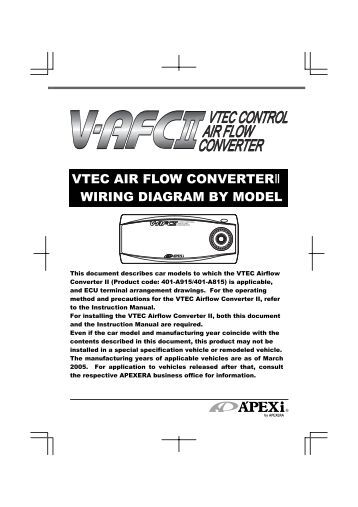 wiring diagram for v stand up models curtis controller vtec air flow converteracirc133plusmn wiring diagram by model apexi usa