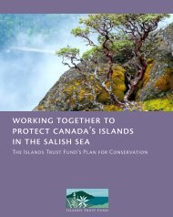 A Plan for Conservation - Islands Trust Fund