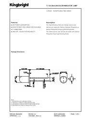 Features T-1 3/4 (5mm) BI-COLOR INDICATOR LAMP ... - Micropik