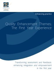 Transforming assessment and feedback - the Enhancement Themes ...