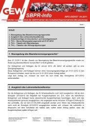 INFO-DIENST 04-2011 Inhalt: 1. Neuregelung des - GEW ...