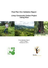 Final Plan Vivo Validation Report: Limay Community Carbon Project ...