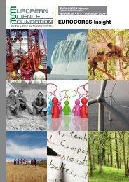 EUROCORES Insight - European Science Foundation
