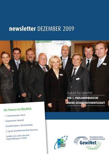 newsletter dezember 2009 - GewiNet