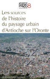 Antioche : les sources croisées et le plan de la ville - E-Corpus
