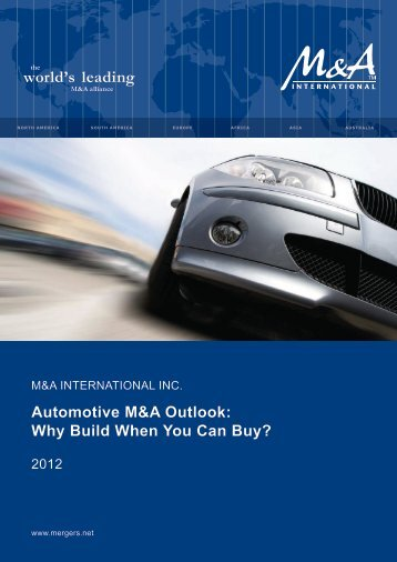 Automotive M&A Outlook: Why Build When You Can Buy?