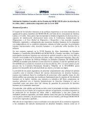 Solicitud de Opinión Consultiva - Observatorio de Políticas Públicas ...