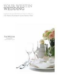 2013 Wedding Booklet - The Westin Ka'anapali Ocean Resort Villas