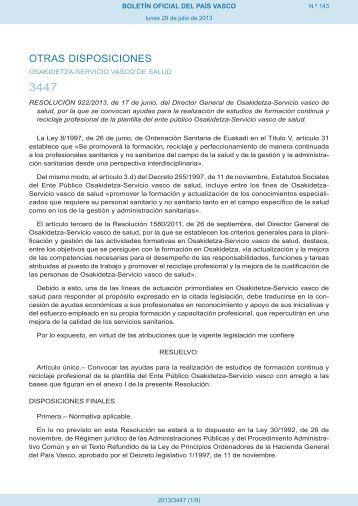 Resolución - Euskadi.net