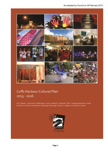 Cultural Plan 2013-2016 final.pdf - Coffs Harbour City Council ...