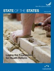 State of the States - Robert Wood Johnson Foundation