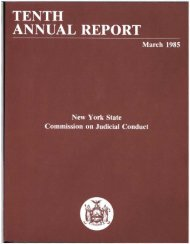 1985 Report - New York State Commission on Judicial Conduct