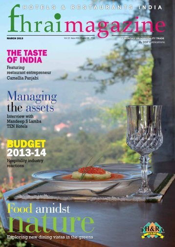 Managing the assets Food amidst - Federation of Hotel and ...