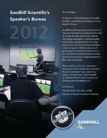 Speakers Bureau 2012 2-13-12.pdf - Sandhill Scientific